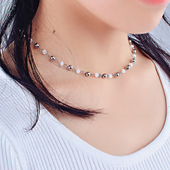 preiswerte Halsketten-Damen Kristall Einzelkette Halsketten - Krystall Personalisiert, Modisch, Euramerican Gold, Silber Modische Halsketten Für Alltag, Normal, Draussen