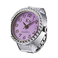 preiswerte Tolle Angebote auf Uhren-Damen Ringuhr Japanisch Quartz Armbanduhren für den Alltag Legierung Band Analog Glanz Modisch Silber - Purpur Rot Blau Ein Jahr Batterielebensdauer / SSUO LR626