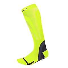 Bicicleta/Ciclismo Calcetines de compresión Transpirable Mantiene abrigado Listo para vestir Suave Compresión A prueba de resbalonesNylón