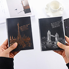Hot Stamping Black Page Creative Notebooks