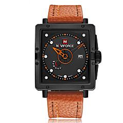 preiswerte Tolle Angebote auf Uhren-Herrn Armbanduhr Kalender Caucho Band Charme Schwarz / Rot / Braun / Edelstahl / Maxell2025 / Zwei jahr