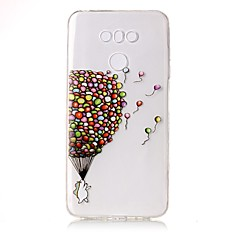 Недорогие Чехлы и кейсы для LG-Кейс для Назначение LG Прозрачный С узором Рельефный Кейс на заднюю панель Воздушные шары Мягкий ТПУ для LG G6