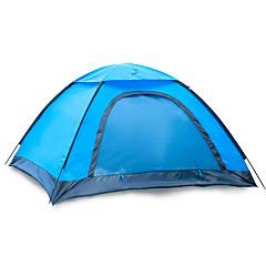 JUNGLEBOA® 2 사람 텐트 싱글 캠핑 텐트 원 룸 접이식 텐트 수분 방지 방수 휴대용 용 하이킹 캠핑 1000-1500 mm 유리 섬유 옥스포드 CM