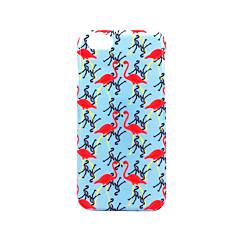Для Чехлы панели Матовое Рельефный С узором Задняя крышка Кейс для Фламинго Твердый PC для AppleiPhone 7 Plus iPhone 7 iPhone 6s Plus