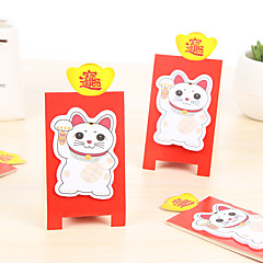 Plutus Cat Self-Stick Notes 1 PCS Random Color For School / Office