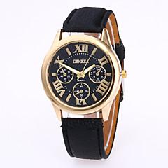 preiswerte Damenuhren-Geneva Damen Armbanduhr Quartz Armbanduhren für den Alltag Leder Band Analog Charme Freizeit Modisch Schwarz / Weiß / Rot - Grün Rosa Hellblau