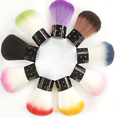 1pcs uñas pelo sintético arte cepillo superior brillaron (color al azar)