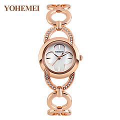 olcso Nyaklánc óra-Női Nyaklánc óra Szimulált Gyémánt Karóra Japán Kvarc Vízálló ötvözet Zenekar Amulett Kreatív Luxus Ezüst Vörös arany