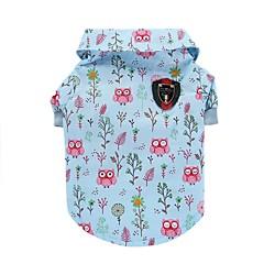 voordelige Hondenkleding & -accessoires-Kat Hond T-shirt Gilet Hondenkleding dier Blauw Katoen Kostuum Voor huisdieren Heren Dames Schattig Casual/Dagelijks Modieus
