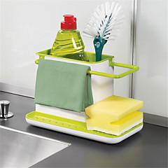 1ks úžasné 3 v 1 rukavice úložné úlomky stojan dishclout úložný regál kuchyňské stojany nádobí