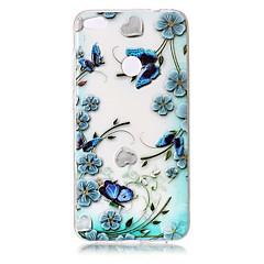 Для Чехлы панели Прозрачный Рельефный С узором Задняя крышка Кейс для Цветы Бабочка Мягкий TPU для HuaweiHuawei P10 Plus Huawei P10 Lite