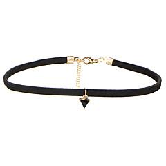 Pentru femei Coliere Choker Bijuterii Geometric Shape Catifea Aliaj Design Basic Stil Atârnat Multi-moduri Wear costum de bijuterii