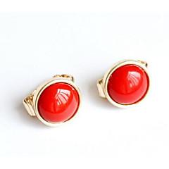 preiswerte Ohrringe-Damen Synthetischer Rubin Klips - Anhänger Stil Rot Für Hochzeit / Party / Besondere Anlässe