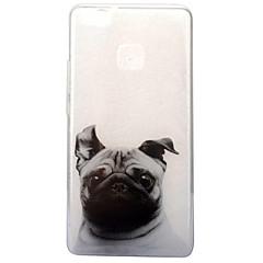 billige Etuier til Huawei-For IMD Transparent Mønster Etui Bagcover Etui Hund Blødt TPU for Huawei Huawei P10 Huawei P9 Lite Huawei P8 Lite (2017)