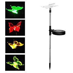 cheap Outdoor Lights-BRELONG® 1pc Multi Color Battery Charging Battery Powered Solar Powered Easy Install Waterproof High Quality Decorative DC4.5 Decoration