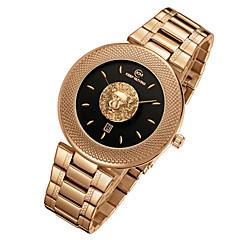Αντρικά Μοναδικό Creative ρολόι Ρολόι Καρπού Swiss Χαλαζίας Ημερολόγιο / Ανοξείδωτο Ατσάλι Μπάντα Απίθανο Μαύρο Λευκή Μπλε ΜπεζΜαύρο