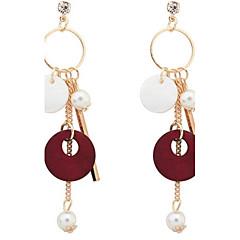 Women's Drop Earrings Hoop Earrings Imitation Pearl Basic Unique Design Logo Style Dangling Style Pendant Tassel Pearl Geometric