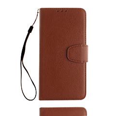 Para Case Tampa Porta-Cartão Carteira Com Suporte Flip Corpo Inteiro Capinha Cor Única Rígida Couro PU para Xiaomi Xiaomi Redmi Note 4