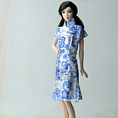 Étnico Vestidos Para Boneca Barbie Vestido Para Menina de Boneca de Brinquedo