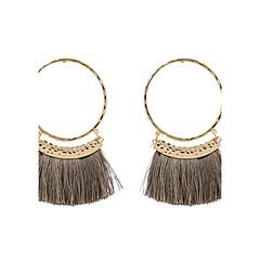 preiswerte Ohrringe-Damen Quaste Tropfen-Ohrringe - Personalisiert, Quaste, Modisch, Euramerican Grau / Rot / Dunkelrot Für Hochzeit Jahrestag Einweihungsparty