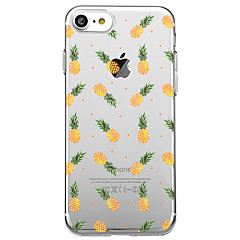 Voor iPhone X iPhone 8 Hoesje cover Transparant Patroon Achterkantje hoesje Fruit Zacht TPU voor Apple iPhone X iPhone 7s Plus iPhone 8
