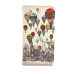 voordelige iPhone 6 hoesjes-Geval voor apple iphone 7 7 plus iphone 6s 6 plus iphone se 5s 5c 5 iphone 4s 4 case cover de ballon patroon pu lederen gevallen