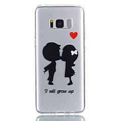 halpa Galaxy S6 kotelot / kuoret-Etui Käyttötarkoitus Samsung Galaxy S8 Plus S8 Kuvio Takakuori Sydän Pehmeä TPU varten S8 Plus S8 S7 edge S7 S6 S5