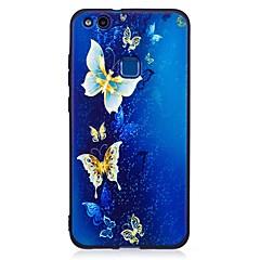 お買い得  Huawei Pシリーズケース/ カバー-ケース 用途 Huawei社P9ライト / Huawei パターン バックカバー バタフライ ソフト TPU のために P10 Lite / P10 / Huawei P9 Lite