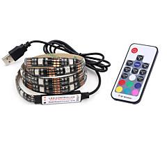 BRELONG USB 5050 RGB Strip Lights 5V TV Background Waterproof 2M 60 Leds with 17Key Controller