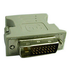 Недорогие DVI-DVI Адаптер, DVI to VGA Адаптер Male - Female 720p Никелированная сталь