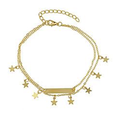Naisten Nilkkaremmi/Rannekorut Metalliseos Friendship Star Shape Korut Varten Kausaliteetti 1 kpl