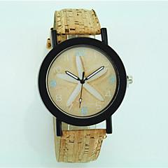preiswerte Damenuhren-Damen Armbanduhr hölzern Leder Band Blume / Freizeit / Modisch Beige / Ein Jahr / Tianqiu 377