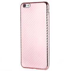 Недорогие Кейсы для iPhone 7 Plus-Кейс для Назначение Apple iPhone 7 Plus iPhone 7 Защита от пыли Кейс на заднюю панель Сплошной цвет Мягкий ТПУ для iPhone 7 Plus iPhone 7