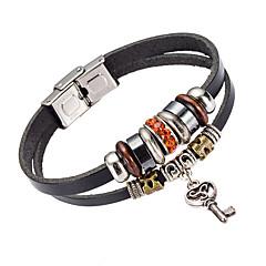 Недорогие Браслеты-Муж. Кожаные браслеты Бижутерия Природа Мода Хрусталь Кожа Сплав Бижутерия Назначение Особые случаи