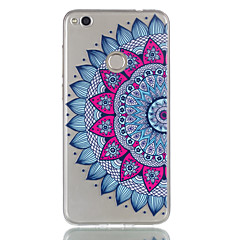 cheap Cases / Covers for Huawei-For Huawei P9 Lite P8 Lite (2017) Case Cover Mandala Pattern Relief Dijiao TPU Material High Through The Phone Case P8 Lite