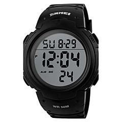preiswerte Damenuhren-Herrn digital Digitaluhr Armbanduhr Smartwatch Sportuhr Chinesisch Kalender Chronograph Wasserdicht Großes Ziffernblatt Stopuhr LCD PU
