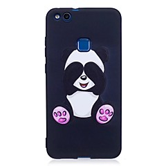 Voor huawei p10 lite p9 lite case cover panda patroon reliëf back cover soft tpu p8 lite 2017