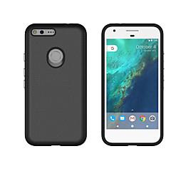 olcso Tokok-Case Kompatibilitás Google Ütésálló Fekete tok Tömör szín Kemény PC mert Google Pixel XL Google Pixel