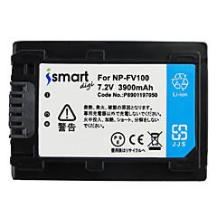 Ismartdigi fv100 7.2v μπαταρία φωτογραφικής μηχανής 3900mah για τη Sony hdr-cx610e cx450 cx680