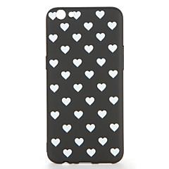 Til oppo r9s r9s plus case dækning mønster bagcover case flise hjerte soft tpu r9 r9 plus