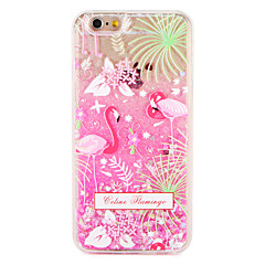 Tilfelle for eple iphone 7 7 pluss flamingo blomst glitter skinn mønster flytende flytende hard pc 6s pluss 6 pluss 6s 6