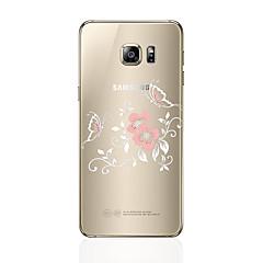olcso Galaxy S6 Edge tokok-Case Kompatibilitás Samsung Galaxy S8 Plus S8 Átlátszó Minta Hátlap Virág Puha TPU mert S8 Plus S8 S7 edge S7 S6 edge plus S6 edge S6 S5