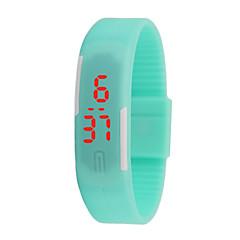 hhy nieuwe led horloges mannen en vrouwen kijkt kleur rubber creatieve digitale horloges