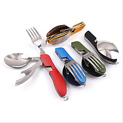 Camping Eating Utensil Set Camping Spork Collapsible Stainless steel for Camping Picnic Outdoor