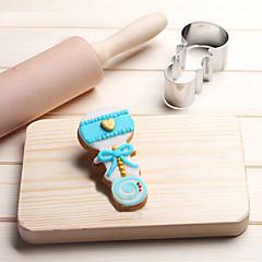 お買い得  ベイキング用品&ガジェット-赤ちゃんの幼児ベルのラトルクッキーカッターステンレスケーキの金型の金属キッチンベーキングツール