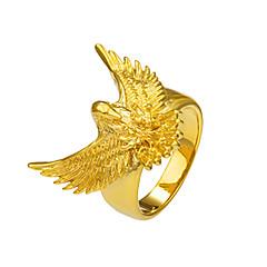 preiswerte Ringe-Herrn Statement-Ring / Ring - Kupfer, vergoldet Eagle, Tier Grundlegend, Punk, Rockig 8 / 9 / 10 Gold Für Weihnachts Geschenke / Besondere Anlässe / Halloween