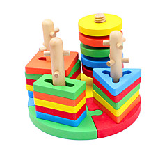 Bausteine Holzpuzzle Steckpuzzles Angeln Spielzeug Spielzeuge Fische Kinder Stücke