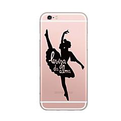 Недорогие Кейсы для iPhone 5-Кейс для Назначение Apple Ультратонкий С узором Задняя крышка Слова / выражения Соблазнительная девушка Мягкий TPU для iPhone 7 Plus