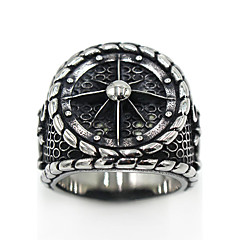 cheap Rings-Men's Women's Ring Jewelry Logo Style Gothic Stainless Steel Circle Costume Jewelry Special Occasion Party / Evening Daily Thanksgiving