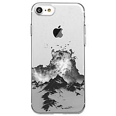 Недорогие Кейсы для iPhone 5-Кейс для Назначение Apple iPhone X iPhone 8 Прозрачный С узором Задняя крышка Пейзаж Мягкий TPU для iPhone X iPhone 8 Pluss iPhone 8